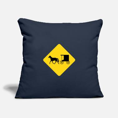 Dressage Horse with carriage Reiter droschke - Pillowcase 17,3'' x 17,3'' (45 x 45 cm)