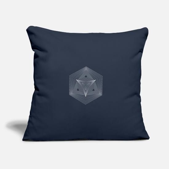 Hexagon Pillow Cases - Hexagon Hexagon Illusion Paradox Yoga Gift - Pillowcase 17,3'' x 17,3'' (45 x 45 cm) navy