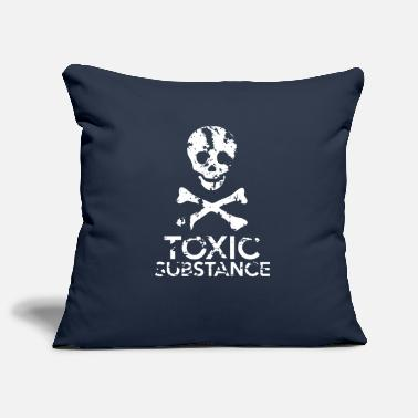 Grungy Grungy Warning Sign – Toxic Substance - Pillowcase 17,3'' x 17,3'' (45 x 45 cm)