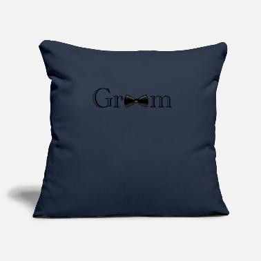 Groom Groom - groom - Pillowcase 17,3'' x 17,3'' (45 x 45 cm)