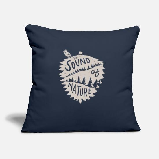 Gift Idea Pillow Cases - The sound of nature - Pillowcase 17,3'' x 17,3'' (45 x 45 cm) navy