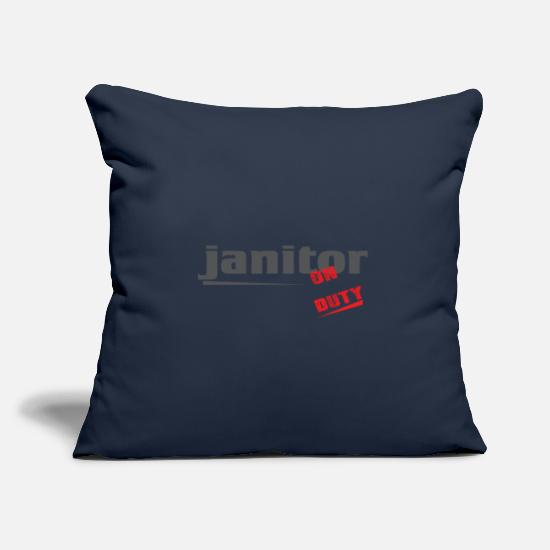 Clean Pillow Cases - Janitor - Janitor - Cleaning and Repairing. - Pillowcase 17,3'' x 17,3'' (45 x 45 cm) navy