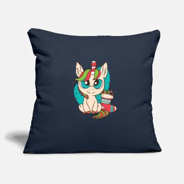 Christmas sweet unicorn - Pillowcase 17,3'' x 17,3'' (45 x 45 cm)
