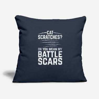 Wounded Funny Scars Design Quote Cat Scratches Battle Scar - Pillowcase 17,3'' x 17,3'' (45 x 45 cm)