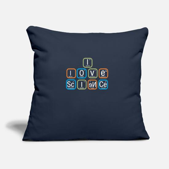 Periodic Table Pillow Cases - Top Fun I Love Science Periodic Table Gift Design - Pillowcase 17,3'' x 17,3'' (45 x 45 cm) navy