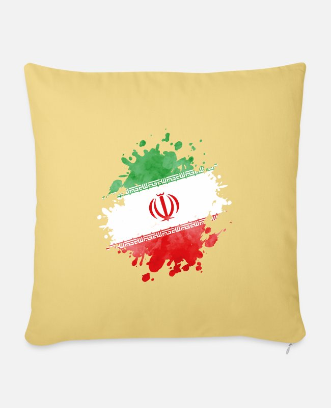I Love Pillow Cases - iran flag flag - Pillowcase 17,3'' x 17,3'' (45 x 45 cm) washed yellow
