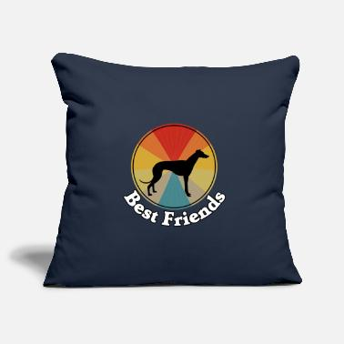 Best Friends - I love dogs Greyhounds - Pillowcase 17,3'' x 17,3'' (45 x 45 cm)