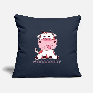 Awesome Funny Cute Cow Moooody - Pillowcase 17,3'' x 17,3'' (45 x 45 cm)