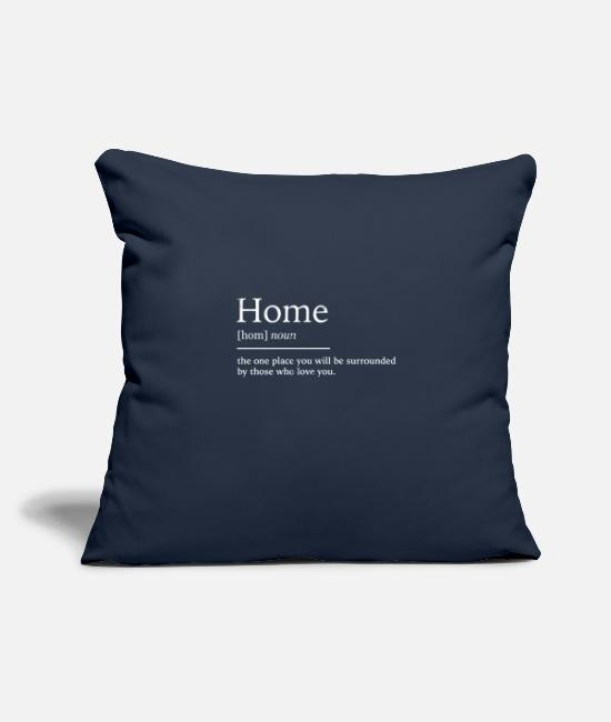 Blessed Home Pillow Cases - Home at home - Pillowcase 17,3'' x 17,3'' (45 x 45 cm) navy