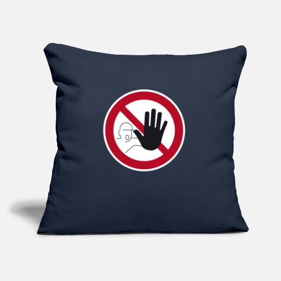 Gift Idea Pillow Cases - Access prohibited sign - Pillowcase 17,3'' x 17,3'' (45 x 45 cm) navy
