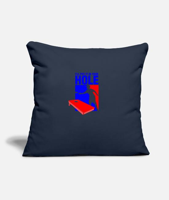 Hipster Pillow Cases - I LL put it in your hole - Pillowcase 17,3'' x 17,3'' (45 x 45 cm) navy