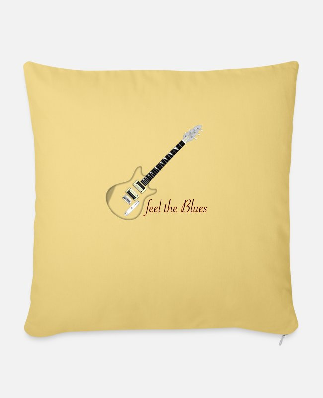 Guitar Pillow Cases - blues - Pillowcase 17,3'' x 17,3'' (45 x 45 cm) washed yellow