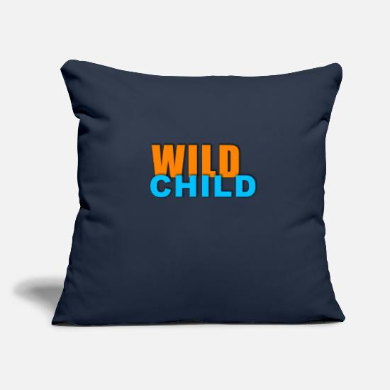 Love Pillow Cases - Be a wild child - Pillowcase 17,3'' x 17,3'' (45 x 45 cm) navy