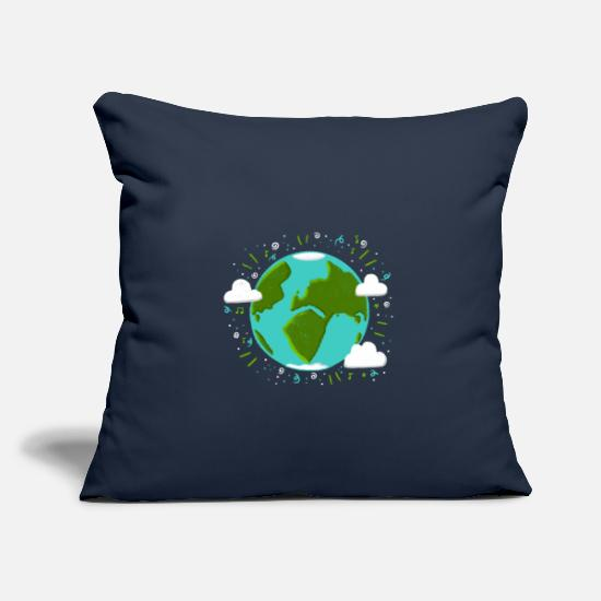 Planet Pillow Cases - Stormy planet earth - Pillowcase 17,3'' x 17,3'' (45 x 45 cm) navy
