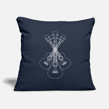 Lineart Ukulele LineArt white - Pillowcase 17,3'' x 17,3'' (45 x 45 cm)
