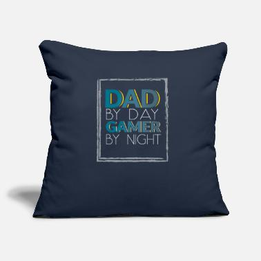 Gamer Grandad Dad by day gamer by nigh - Pillowcase 17,3'' x 17,3'' (45 x 45 cm)
