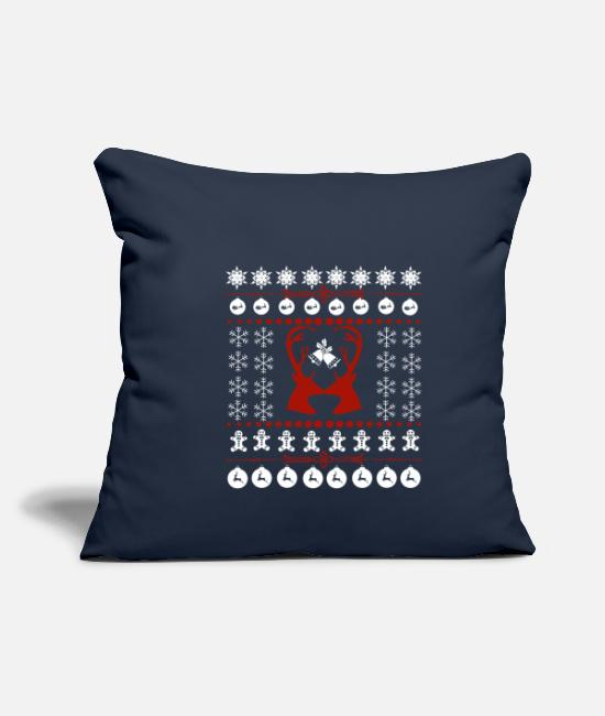 Family Reunion Pillow Cases - Christmas family holidays gift - Pillowcase 17,3'' x 17,3'' (45 x 45 cm) navy