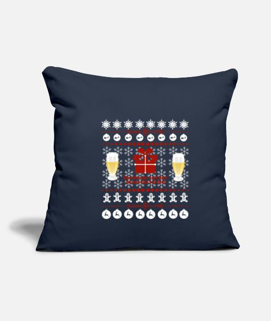 Beer Griller Pillow Cases - Christmas family holidays gift - Pillowcase 17,3'' x 17,3'' (45 x 45 cm) navy