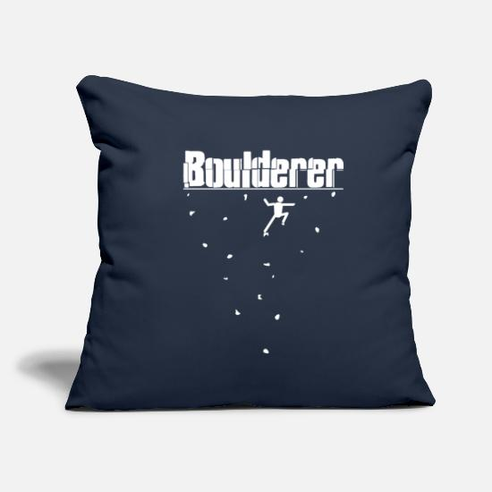 Bouldering Pillow Cases - Bouldering Boulderer - Pillowcase 17,3'' x 17,3'' (45 x 45 cm) navy