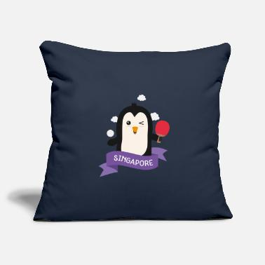 Recreational Penguin table tennis from SINGAPORE Gift - Pillowcase 17,3'' x 17,3'' (45 x 45 cm)