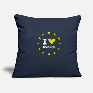 Brexit I Love europe Star heart stick eu no brexit circle l - Pillowcase 17,3'' x 17,3'' (45 x 45 cm)