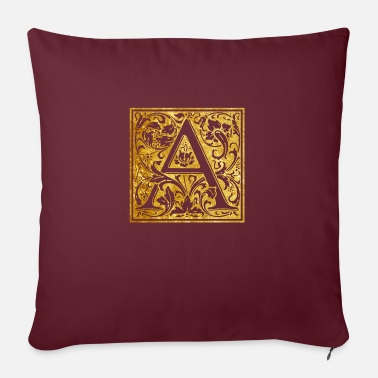 Initial Initials-A - Pillowcase 17,3'' x 17,3'' (45 x 45 cm)
