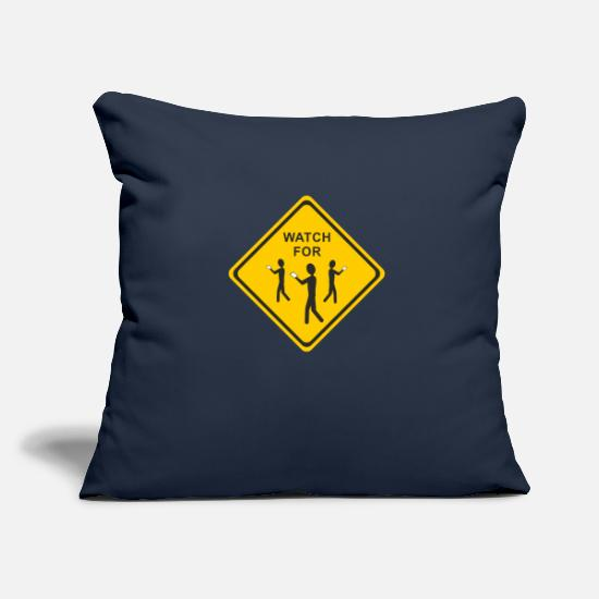 Shield Pillow Cases - Note - Smartphone User 2 - Pillowcase 17,3'' x 17,3'' (45 x 45 cm) navy