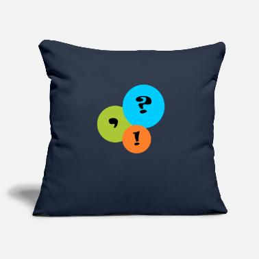 Punctuation Marks punctuation mark - Pillowcase 17,3'' x 17,3'' (45 x 45 cm)