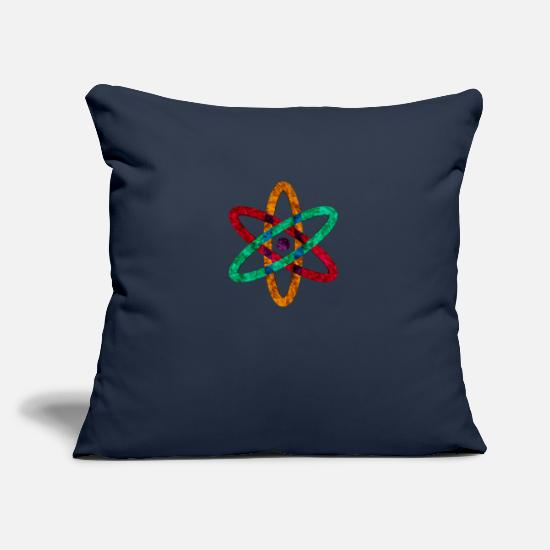Physics Pillow Cases - anatomic atomic atoms - Pillowcase 17,3'' x 17,3'' (45 x 45 cm) navy