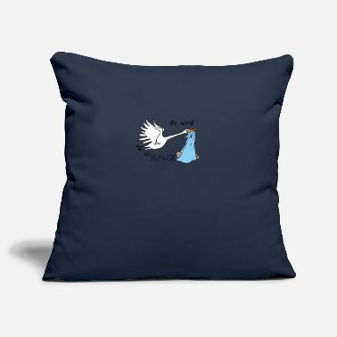 Childbirth Baby boy for childbirth - Pillowcase 17,3'' x 17,3'' (45 x 45 cm)