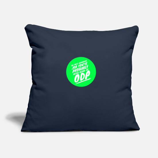 Operating Department Practice Pillow Cases - Rewarding job 5 - Pillowcase 17,3'' x 17,3'' (45 x 45 cm) navy