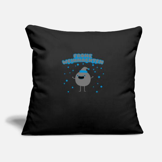 Christmas Pillow Cases - Funny Santa Claus - Merry Christmas - Pillowcase 17,3'' x 17,3'' (45 x 45 cm) black