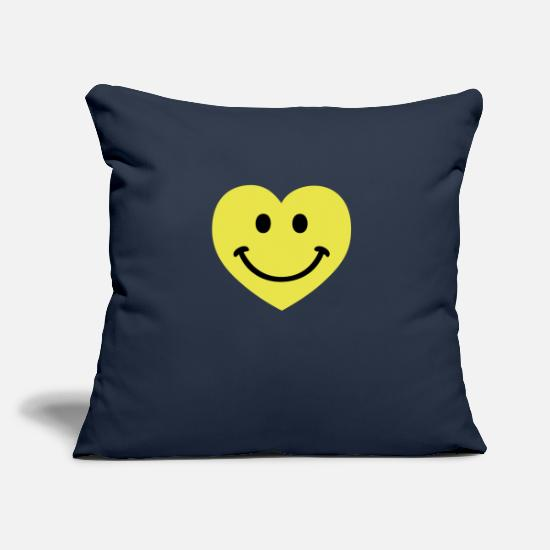 Romantisch Kissenbezüge - smiley smiling heart - Kissenhülle Navy