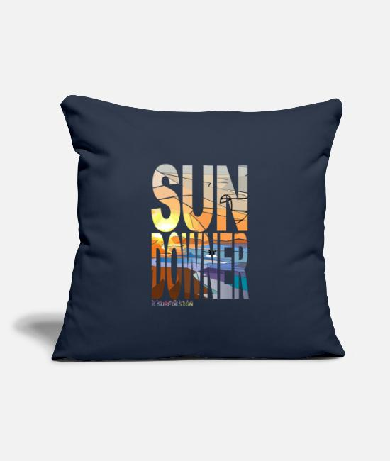Sunset Pillow Cases - SUNDOWNER kiter - Pillowcase 17,3'' x 17,3'' (45 x 45 cm) navy