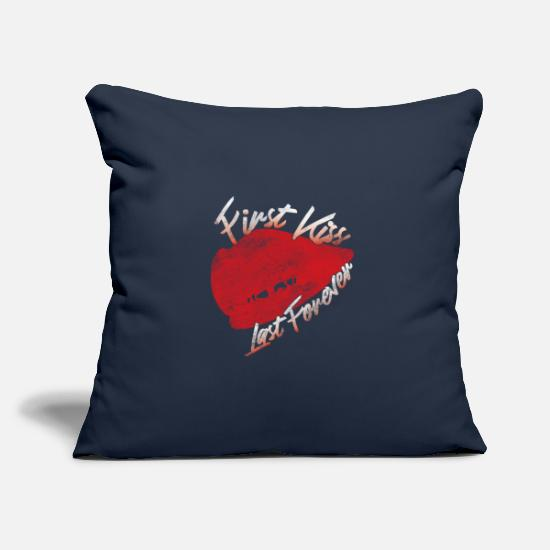Love Pillow Cases - First love - Pillowcase 17,3'' x 17,3'' (45 x 45 cm) navy