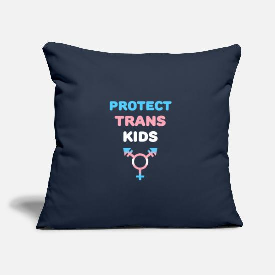 Gay Pride Pillow Cases - Protect Transgender Kids Symbol Gift - Pillowcase 17,3'' x 17,3'' (45 x 45 cm) navy