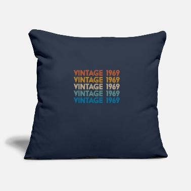 Blue Design Vintage 1969 50th Birthday gift for women and men - Pillowcase 17,3'' x 17,3'' (45 x 45 cm)