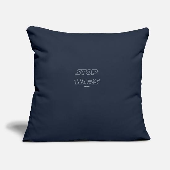 New Pillow Cases - STOP WARS - Pillowcase 17,3'' x 17,3'' (45 x 45 cm) navy