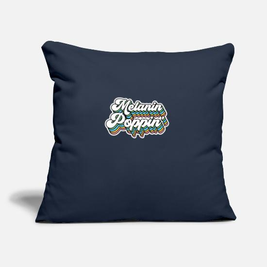 Black Power Pillow Cases - Melanin Poppin 01 - Pillowcase 17,3'' x 17,3'' (45 x 45 cm) navy
