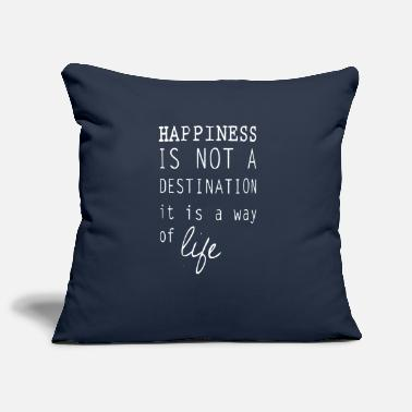 Happiness Happy happiness is a lifestyle happiness - Pillowcase 17,3'' x 17,3'' (45 x 45 cm)