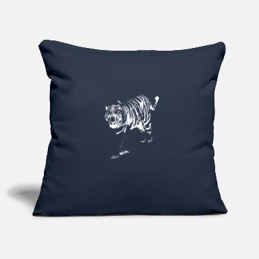 Tiger monochrome white - Pillowcase 17,3'' x 17,3'' (45 x 45 cm)