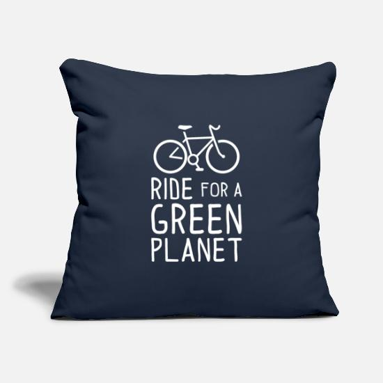 Birthday Pillow Cases - Ride for a Green Planet Bicycle Environmental Protection - Pillowcase 17,3'' x 17,3'' (45 x 45 cm) navy