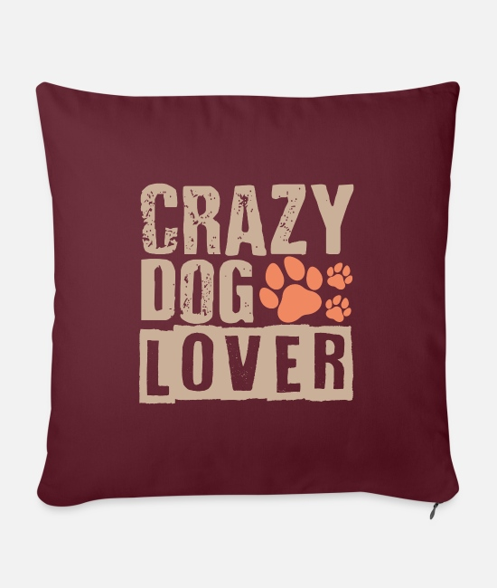 Birthday Pillow Cases - dog - Pillowcase 17,3'' x 17,3'' (45 x 45 cm) burgundy