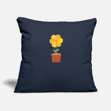 Flower Pot Yellow flower in the pot - Pillowcase 17,3'' x 17,3'' (45 x 45 cm)