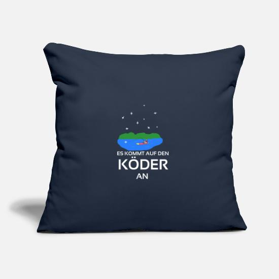 Birthday Pillow Cases - It depends on the bait fishing gift idea - Pillowcase 17,3'' x 17,3'' (45 x 45 cm) navy