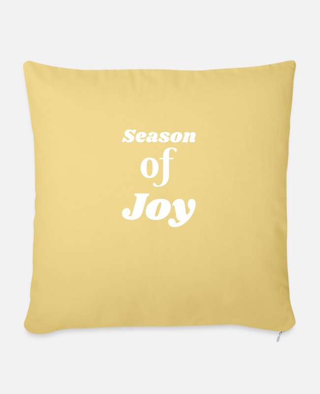 Beautiful Pillow Cases - Season of Joy - Pillowcase 17,3'' x 17,3'' (45 x 45 cm) washed yellow