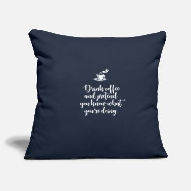 Humour Humour coffee - Pillowcase 17,3'' x 17,3'' (45 x 45 cm)