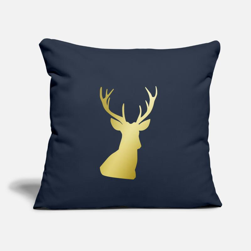Bestseller Pillow cases - Deer Print - Pillowcase 17,3'' x 17,3'' (45 x 45 cm) navy