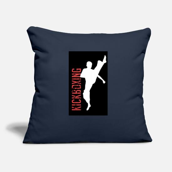 Kickboxing Pillow Cases - Kickboxing kick - Pillowcase 17,3'' x 17,3'' (45 x 45 cm) navy