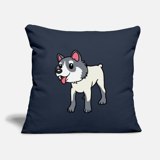 Dog Friend Pillow Cases - Watchdog service dog sport dog dogs dog animals - Pillowcase 17,3'' x 17,3'' (45 x 45 cm) navy